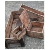 Pile of Wooden boxes