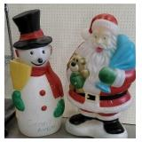 large Santa and snowman blow mold