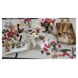 Box of Christmas items includes Hummel type