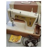 Vintage Singer model 237 White portable sewing