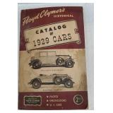 1929 catalog of cars.. The back cover is damaged