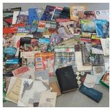 Large box of miscellaneous magazines and books