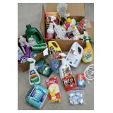 2 boxes of everyday household cleaning goods