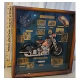 Heavy shadowbox - Motorcycle Born to Ride - route