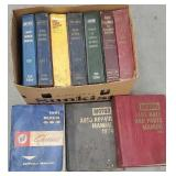 Box of automotive repair manuals 1960