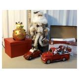 Group of Christmas - red trucks, santa, &