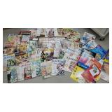 Box quilting magazines and crafting items