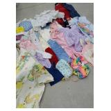 Box of mostly vintage baby clothes range from