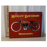 Porcelain Harley-Davidson motorcycle sign