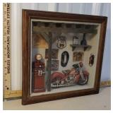 Motorcycle/garage shadow box
