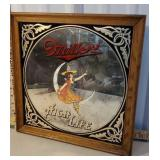 Miller high Life bar mirror - dated 1980