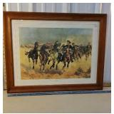Large Frederick Remington print - titled -