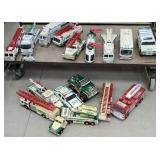 Group of Hess trucks without boxes