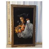 Velvet Elvis Presley painting