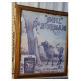 Bull Durham poster - framed