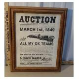 1849 auction poster - not an original