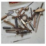 Box tools - tape measures, c clamp, hammers, etc