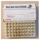 Winchester 9mm nato 124gr 1 full box
