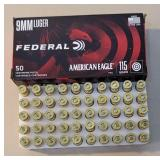 Federal american eagle 9mm 115gr 1 full box