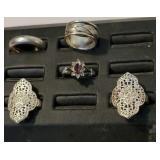 5 sterling silver rings