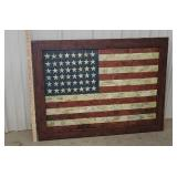 large American flag print on board