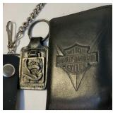 Nice Harley-Davidson leather wallet and keychain