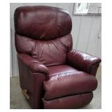 Lazyboy red leather recliner