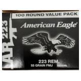 Federal american eagle 223 rem 55grain box 100