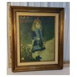 Print on canvas - little girl with watering can