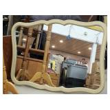 "35"" x 48"" French provincial wall hanging mirror"