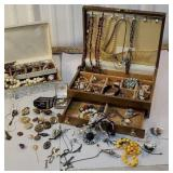 2 jewelry boxes full includes military