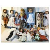 Large group of dolls