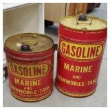 2 marine snowmobile/tank gas cans