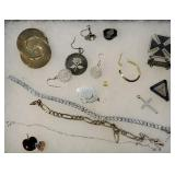Group of misc Sterling jewelry - mostly parts and