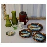 As is Box - 3pc German? Coaster set, 2 green