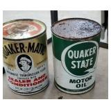 2 oil cans - Quaker matic & Quaker State Still