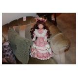"""Doll - Porcelain - Marked Dan Dee 16"""""""