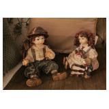 Pair of Resin Dolls