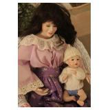 Porcelain Baby & Mother dolls