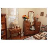 Vanity Dresser w/mirror & nightstand (2pcs)