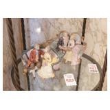 2pc Victorian Ceramic Figures