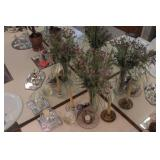7pc Candle Holders & Vase