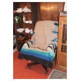 Naugahide Executives Chair & Navaho Blanket