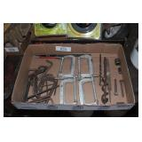 C-Clamps, Allen Wrenches, & Wood Drills