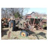 John Deere B Narrow Front w/ Buzz Saw & Sickle Bar