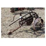 Vintage Steel Wheel Single Bottom Plow