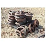 34pc Cast Iron Cultipacker Wheels