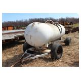 1000 gal. anhydrous ammonia tank on running gear