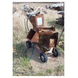 Kemp corn sheller on cart