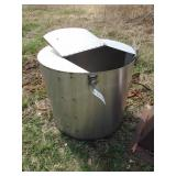 """stainless 34"""" x 30"""" stainless bin"""